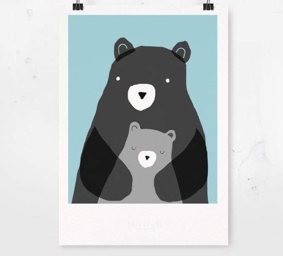 Papermint Bear Poster