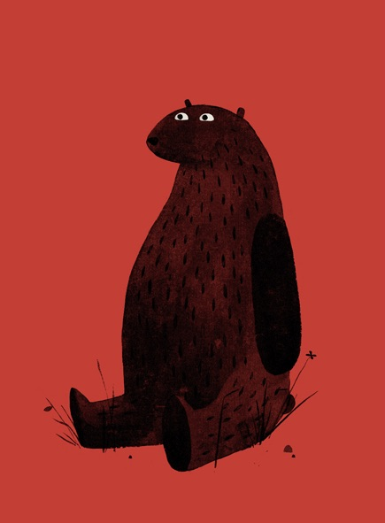 Jon_Klassen_-_Print_-_I_Want_My_Hat_Back_-_Page_19__Red_Bear__-_Nucleus___Art_Gallery_and_Store