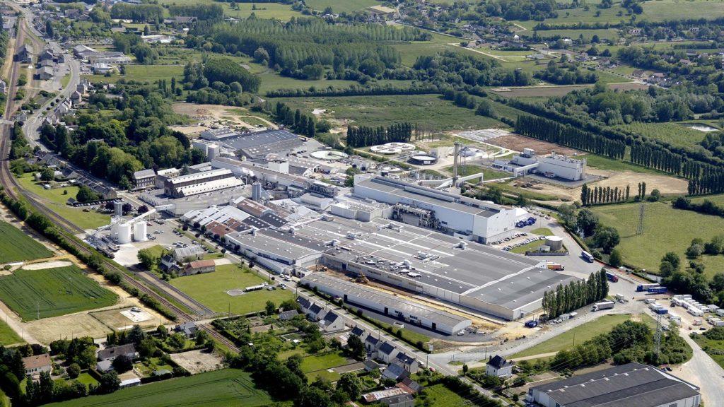 Die Papierfabrik ArjoWiggins von oben