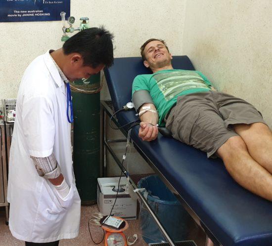 Blutspenden in Kambodscha