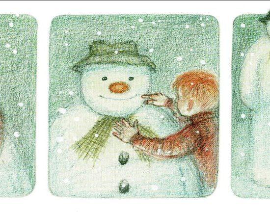 Bildfolge: Ein Junge und ein Schneemann