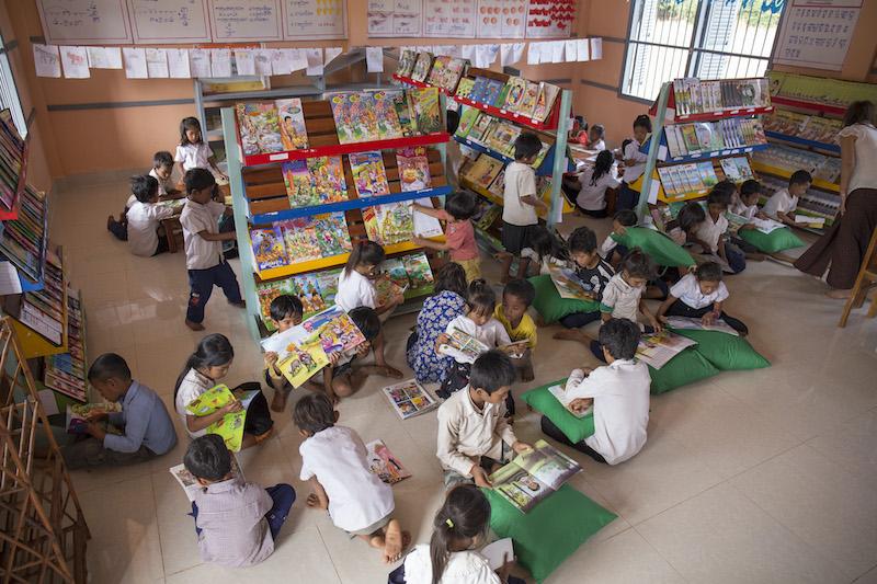 Room To Read School Library Cambodia