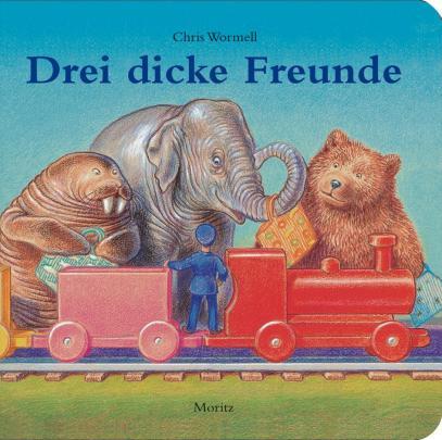 Cover Chris Wormswell: Walross, Elefant und Bär steigen in den Zug