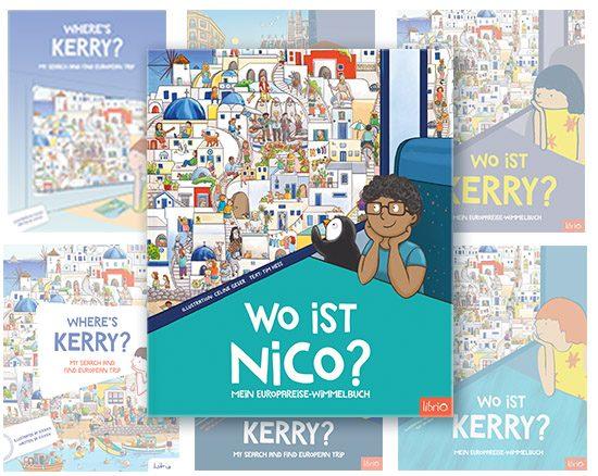 Verschiedene Varianten Wimmelbuch Cover