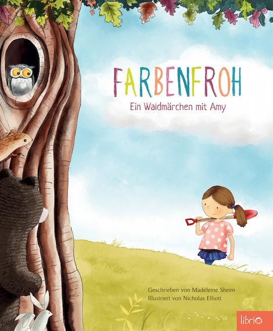 Cover Farbenfroh: Mädchen und Waldtiere