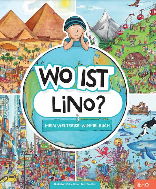 Cover Weltreise-Wimmelbuch: Weltkugel und verschiedene Landschaften