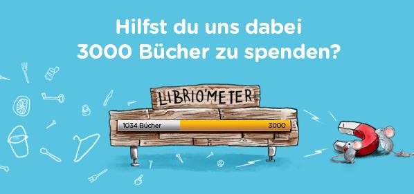 Librio: Hilfst du uns dabei 3000 Bücher zu spenden?