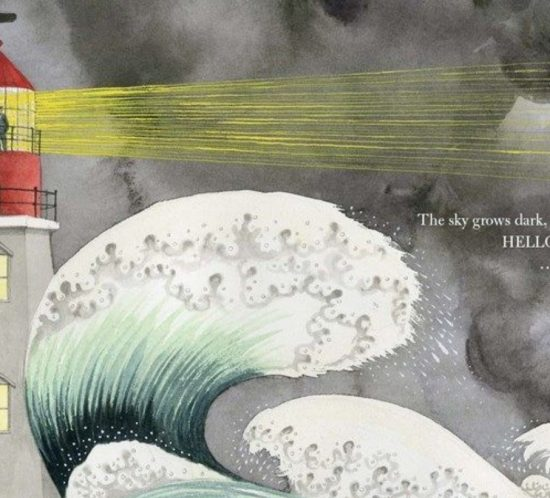 Auszug aus dem Buch von Sophie Blackall: Leuchtturm in der Nacht