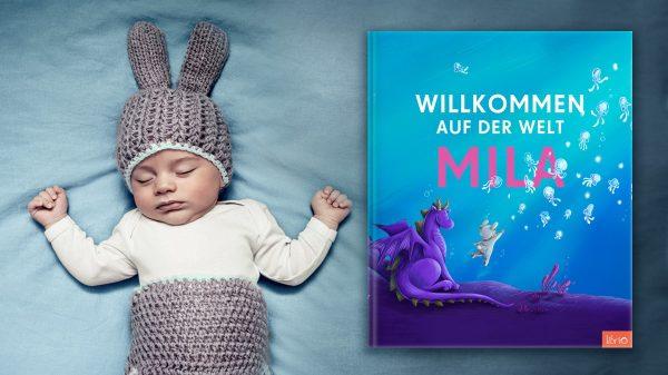 """Baby und Geschenk zur Geburt: Buch """"Willkommen auf der Welt"""""""