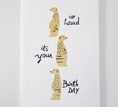Kikisoso Meerkats card