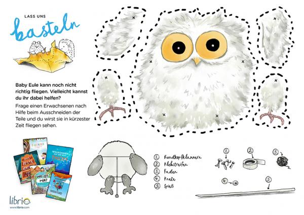 Bastelideen für Kinder: Anleitung zum Basteln einer Eule