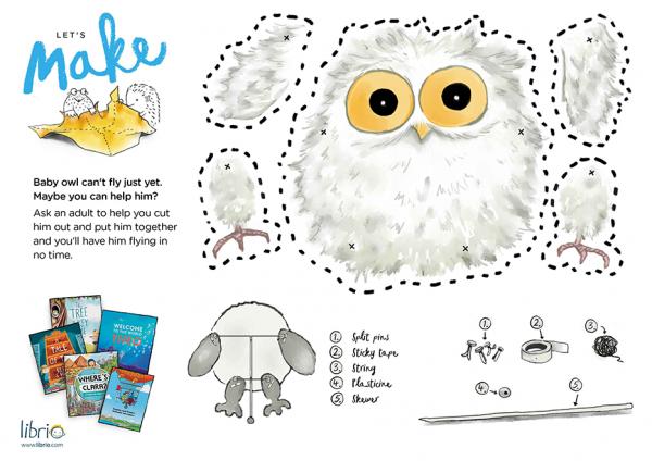 Instructions for making mrs owl