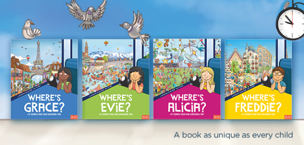 colour choice options for covers of search and find books