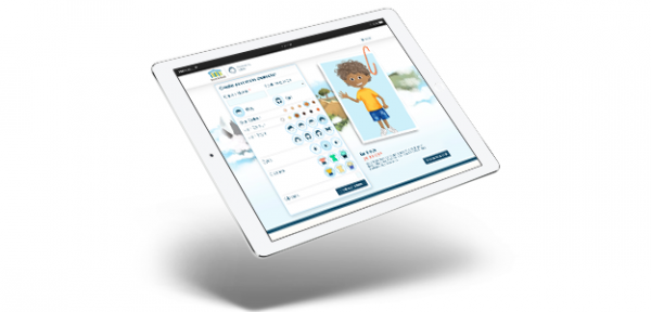 ipad with configuration options on the screen