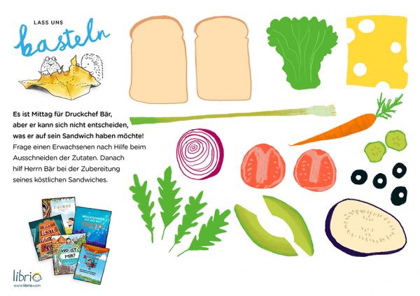 Neue Bastelideen: Zutaten für ein Sandwich