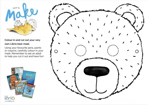 Bear mask template download
