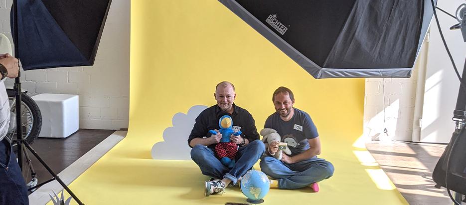 Librio-Team am Fotoshooting