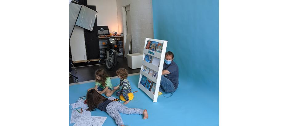 Fotoshooting Kinder am Set