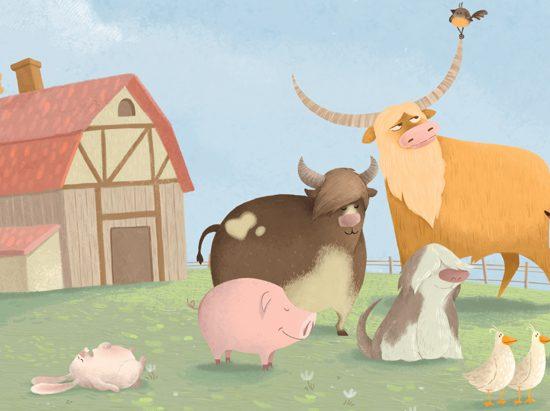 """Bauernhoftiere aus """"Eigentlich wär ich lieber, bin ich eigentlich, ja bin ich längst ein Huhn!"""""""